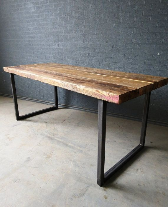Reclaimed Industrial Chic 6-8 Seater Solid Wood by RetroCorner1