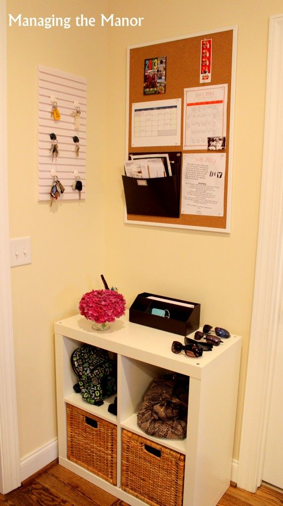 No mudroom or foyer to gather incoming items? Transform a small space ...