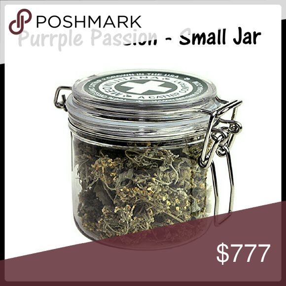 Purrple Passion Catnip =^..^= Purrple Passion Catnip Small Jar Finally, an even more potent strain for your furry little nip-heads! Our Purrple Passion Catnip Buds are harvested during the plants' peak oil production, meaning your furry friends are getting a next-level catnip experience! About 14 grams  =^..^=  Firm Price unless visited at www.des-ecllections.com  For MUCH cheaper and Free Shipping *not for human consumption* Meowijuana Other