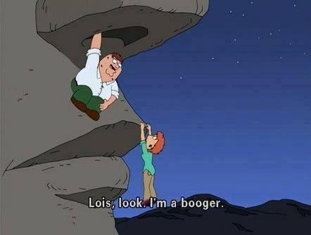 """Family Guy: """"I'm a booger"""""""