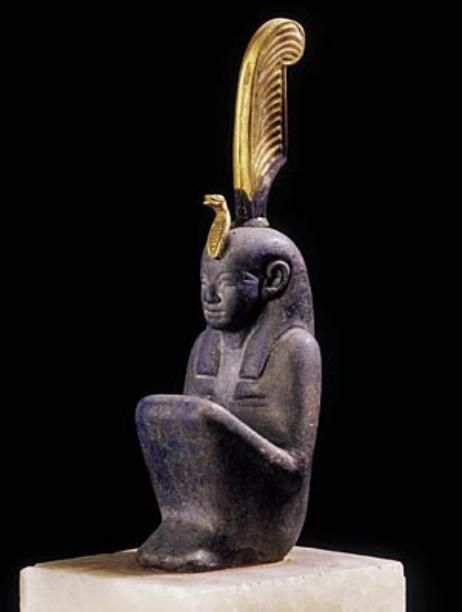 Maat, goddess of order, truth, and justice The heart of a deceased person was weighed against the feather of Maat during judgment in the underworld. Third Intermediate Period, ca. 800–700 BCE From Khartoum, Sudan Gold and lapis lazuli The Egyptian Museum, Cairo