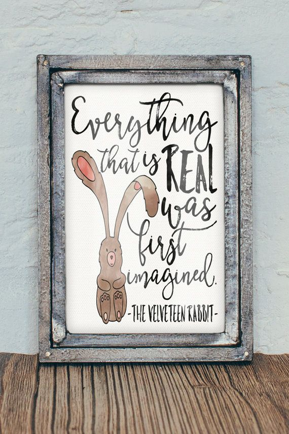 The Velveteen Rabbit 8x10 Watercolor Nursery by FiveCentStudio