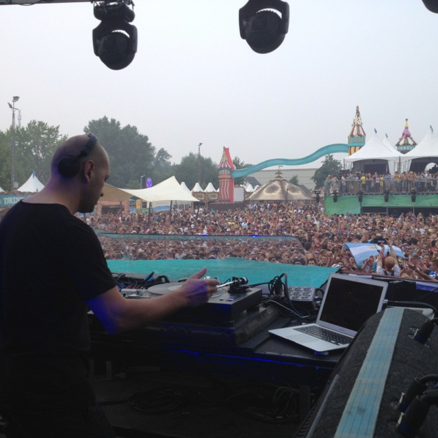 With Marco @ Tomorrowland stage