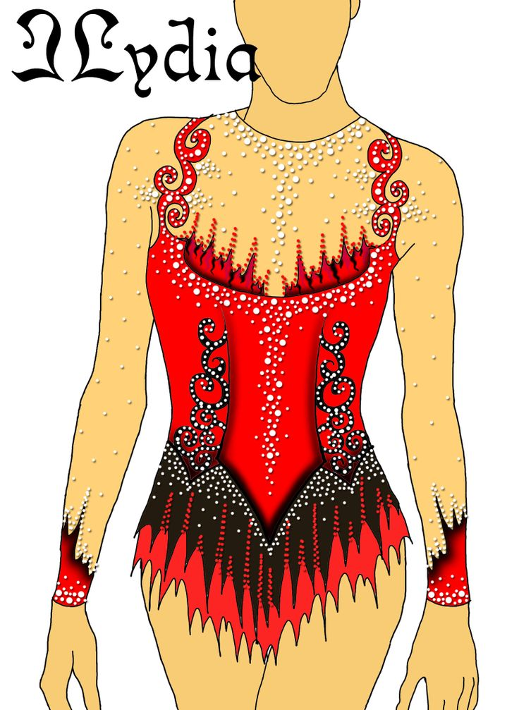 Competition Rhythmic gymnastic leotards Design Tango