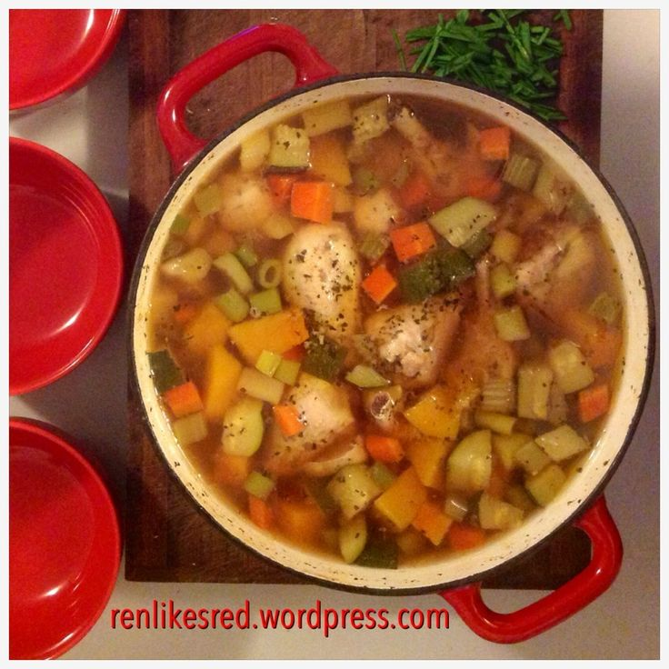 """Tum Yum Soup"" – Gut Healing Chicken Soup  #Renlikesred"