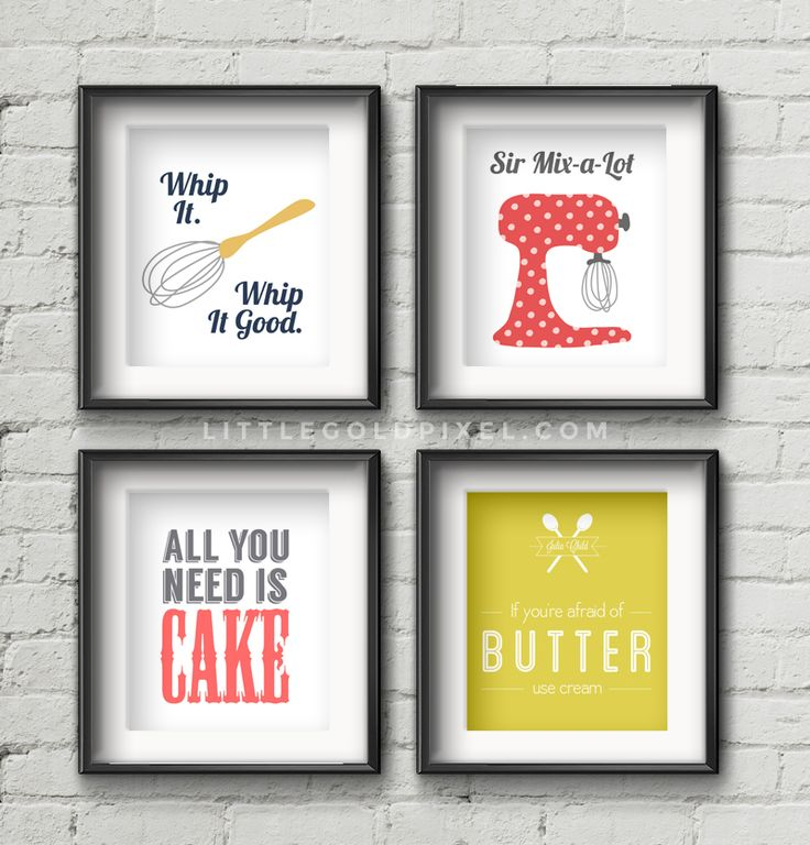Kitchen Free Printables •Little Gold Pixel