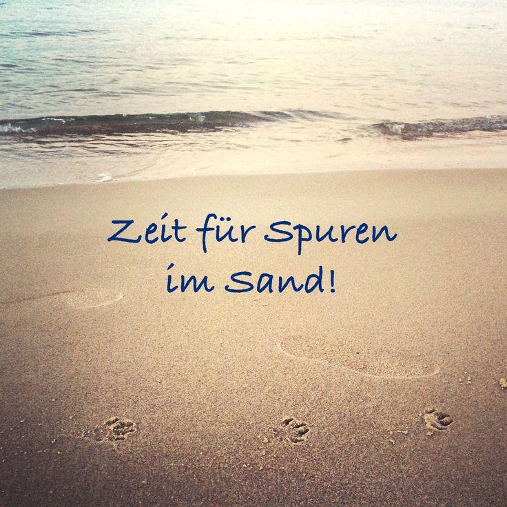 ...Zeit für Spuren im Sand................. ❤❤❤❤