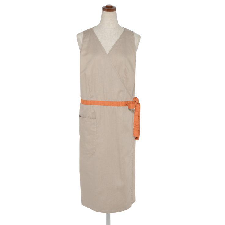 wrap apron- beige