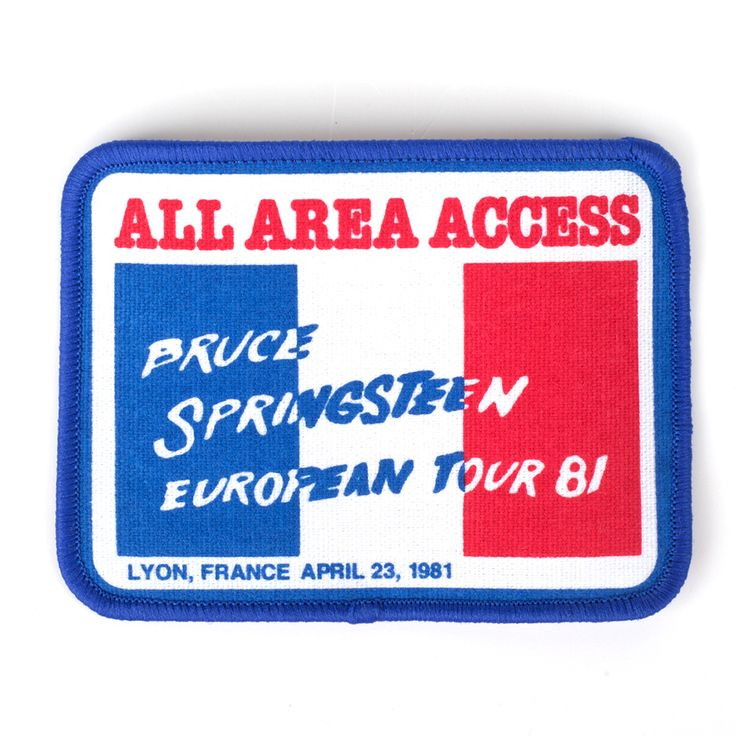 Bruce Springsteen Official Store | Lyon Paris Patch