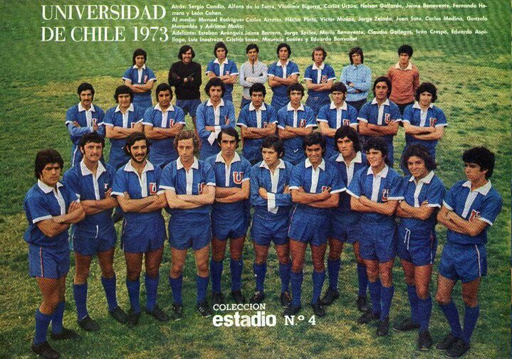 Universidad de Chile of Chile team group in 1973.