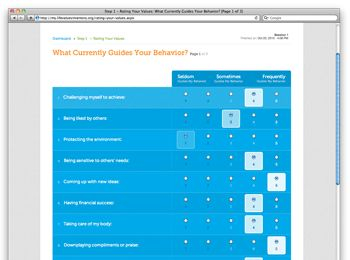 The Life Values Inventory Online - Free values clarification & personal development program