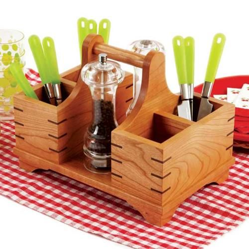 Silverware Caddy Woodworking Plan, Gifts & Decorations Kitchen Accessories