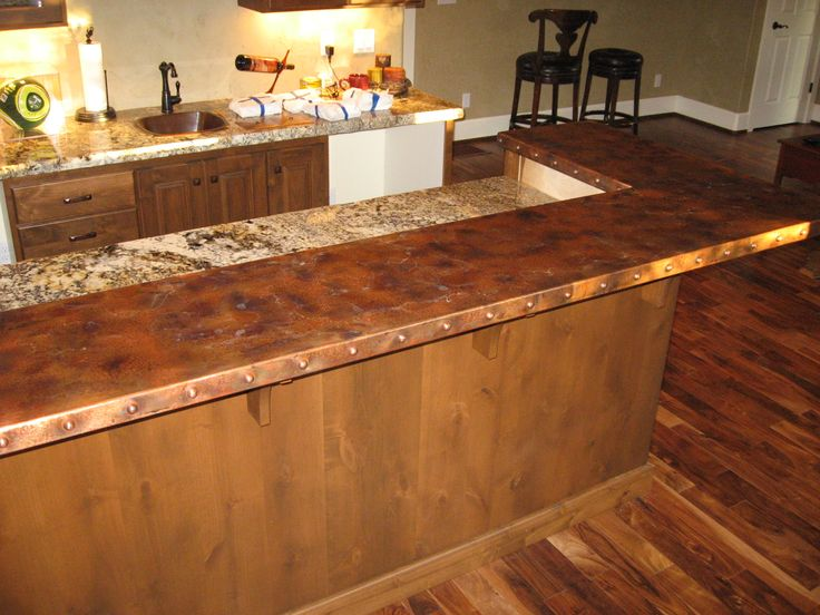 Copper countertops heavy metal works copper bar counter for How to make a copper bar top