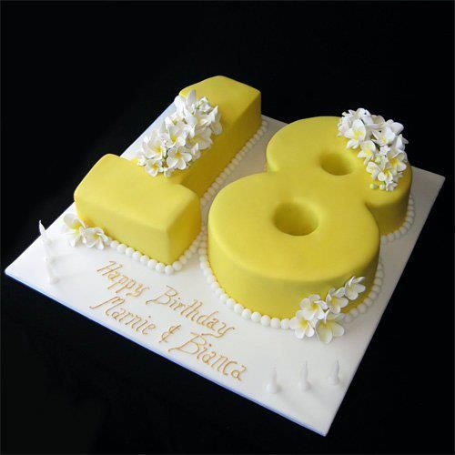 Best 25+ 18th Birthday Cake Designs Ideas On Pinterest