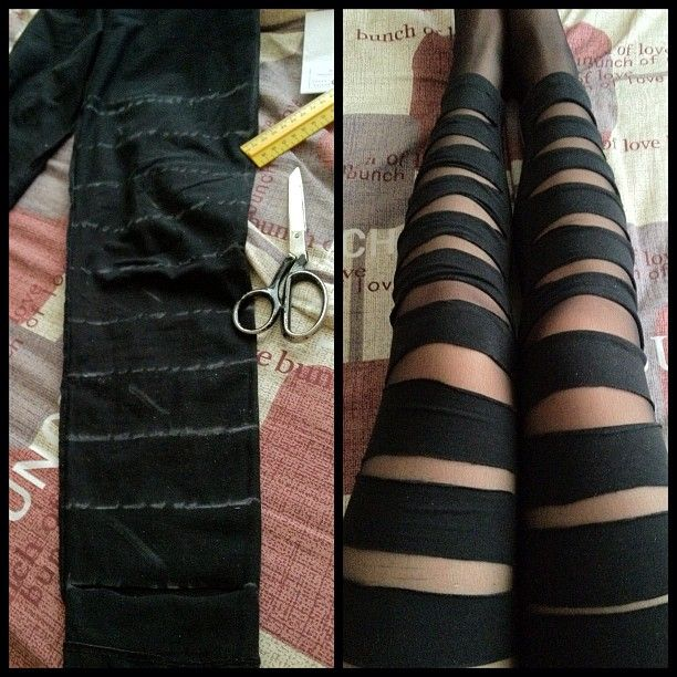 Cut up leggings