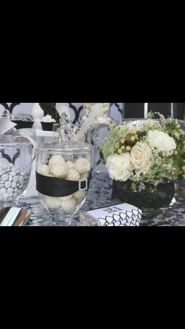 Confettata wedding white black