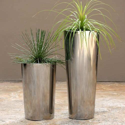 Round Stainless Steel Planters
