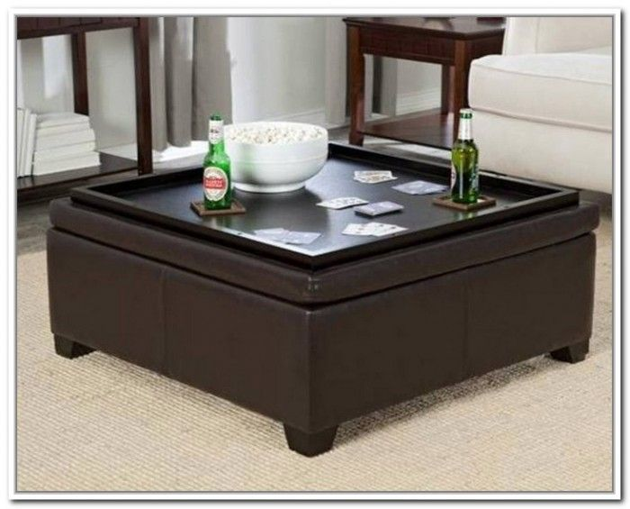 Inspiring Large Ottoman Tray For Home Furniture Ideas Square In Brown