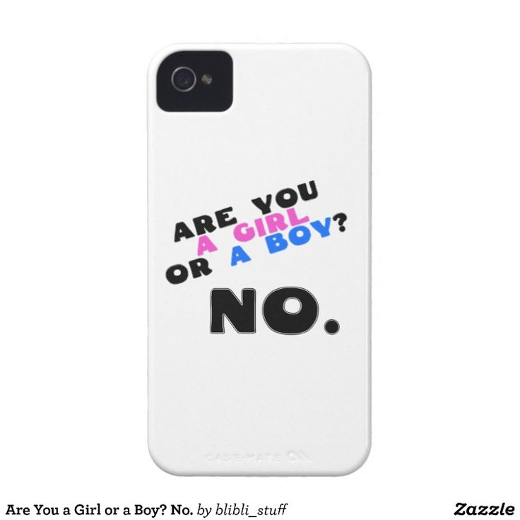 Are you a girl or a boy. No. This iPhone 4 cover is available on #zazzle: http://www.zazzle.com/are_you_a_girl_or_a_boy_no_iphone_4_cover-179126646349877988 #gender #agender #antigender #genderqueer #nonbinary #enby #lgbtqia #iphone #iphone4