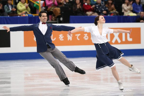 Anna Cappellini and Luca Lanotte of Italy  compete in the Ice Dance Short Dance during ISU World Figure Skating Championships at Saitama Super Arena on March 28, 2014 in Saitama, Japan.