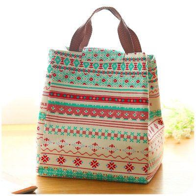 日式饭盒袋子大号便当包简约帆布手提保温女包防水冷饮保温保冷袋