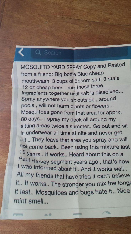 Misquito Yard Repellent