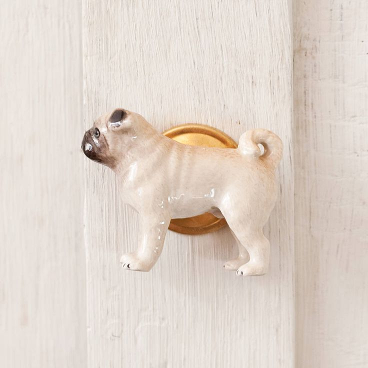 pug dog cupboard or door knob by bloom boutique | notonthehighstreet.com