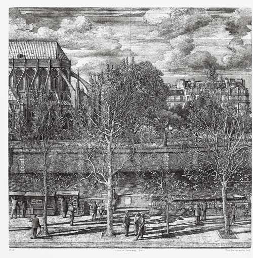 Desmazières - Le quai de Montebello - Salle des conversations