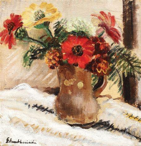 Chrysanthemums by Micaela Eleutheriade