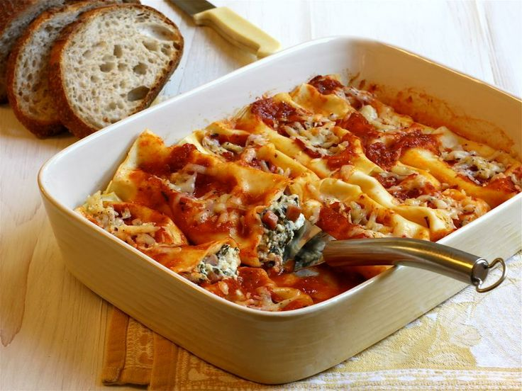 Easy mid-week meal: Cabot Spinach, Cheese & Ham Cannelloni