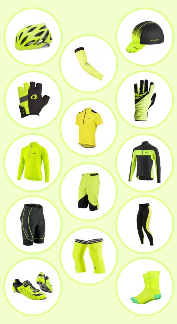 Beginner's guide to cycling gear, using high visibility cycling clothes as an example of what type of bike apparelis out there for you to wear! If you're buying cycling gear anyway, why not buy a few pieces of high visibility clothes for bike safety!Whether it's road cycling, city bike commuting, mountain biking, bike touring, or triathlon training, here are some ideas for your cycling outfit for safe biking!This is a list of fitnessgear to consider for your outdoor travel adventures.