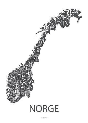 Plakat Norge