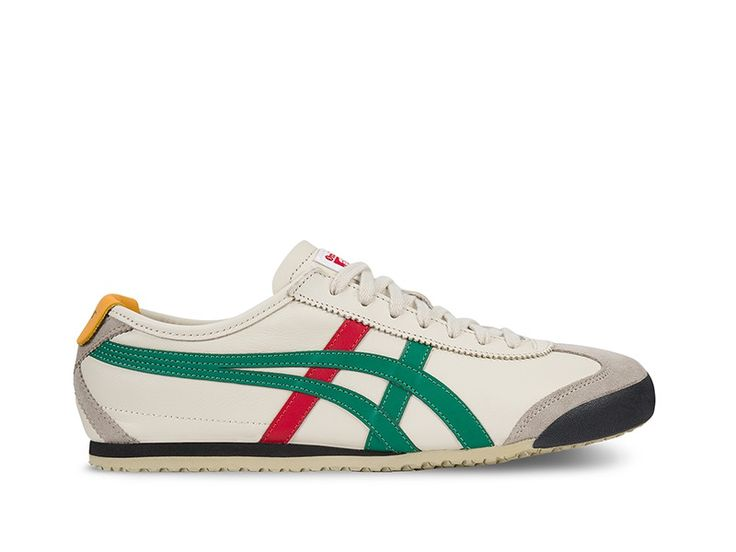 The iconic Mexico 66® model was born in 1966 and debuted at the 1968 Olympic games pretrials in Mexico with a premium white leather, stitched with red and blue tiger stripes. Today, the classic runner has been reawakened and remains to be the most popular shoe in the Onitsuka Tiger® collection. Since its revival, the heritage racer gets the full-grain leather treatment on the side panels and tiger stripes, while the heel and toecap are finished off with a smooth suede, accompanied by a…