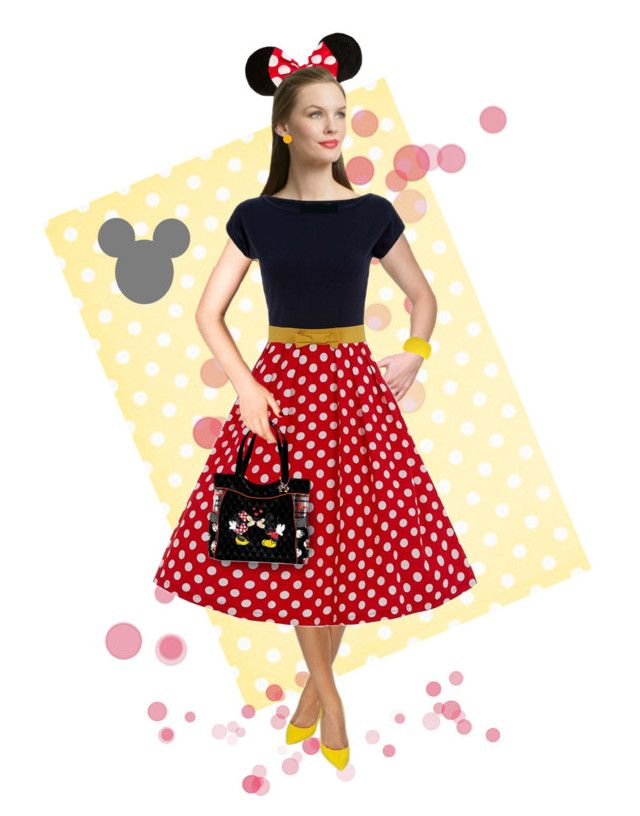 """Minnie Mouse Costume"" by kbarkstyle ❤ liked on Polyvore featuring art"