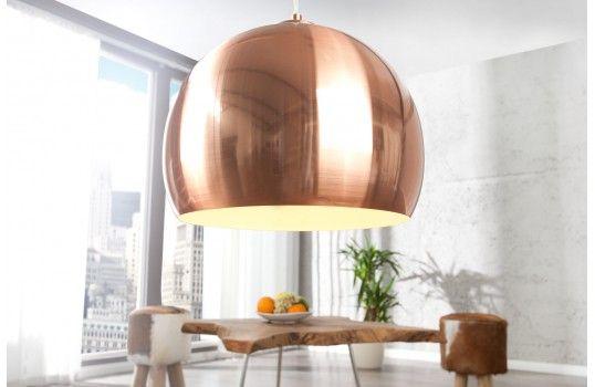 Lustre design Clotilde en cuivre et métal.