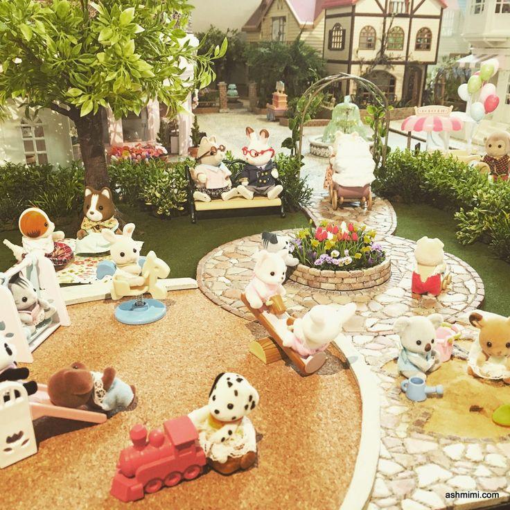 handmade park for sylvanianfamilies calico critters. Black Bedroom Furniture Sets. Home Design Ideas