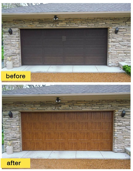 1000 images about before and after exterior makeovers on for Buy clopay garage doors online