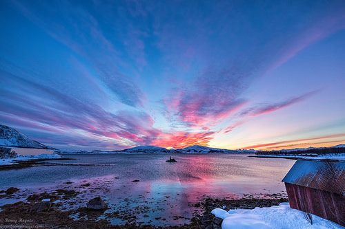 sunset at my place. Epic Photos from Northern Norway by Benny Hoynes