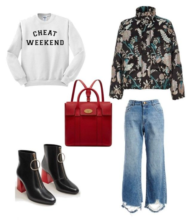 """Untitled #136"" by dariatamasan on Polyvore featuring DL1961 Premium Denim, MANGO, River Island and Mulberry"