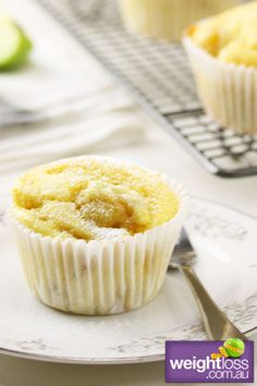 Healthy Muffins Recipes: Low Fat Apple & Cinnamon Muffins. #HealthyRecipes #DietRecipes #WeightlossRecipes weightloss.com.au