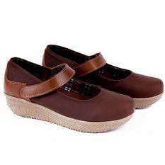 Garucci GJA 5142 Sepatu Casual Sneaker/ Kets Wanita - Synthetic - Gaya (Coklat Gelap)