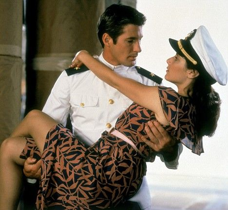 AN OFFICER AND A GENTLEMAN!  I fell in love with Richard Gere in this movie.  The title says it all - stuff that dream are made of.    !