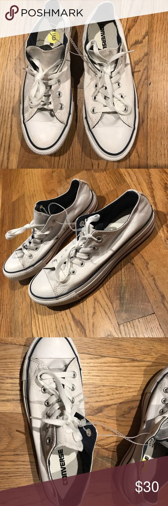 Converse white low tops Converse white low tops 👟 never worn. Excellent condition. Size 7 in men. Size 9 in women Converse Shoes Sneakers