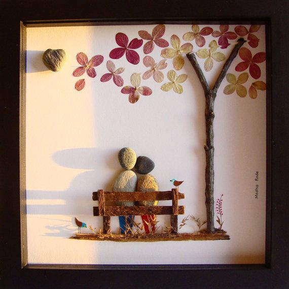Boda única del regalo de boda, regalo de boda personalizado-personalizada-Pebble Regalo Art-Aniversario Regalo-Único-Contrato Imagen regalo de boda