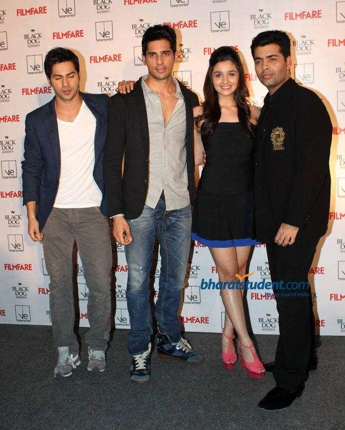 Student of the Year Cast Unveils Filmfare Latest Issue, Alia Bhatt, Karan Johar, Varun Dhawan, Sidharth Malhotra, Filmfare, SOTY