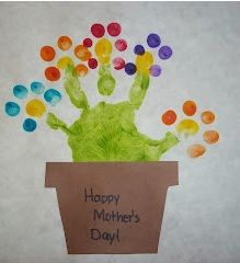 Handprint Flowers | Munchkins and Mayhem: On ceramic tiles