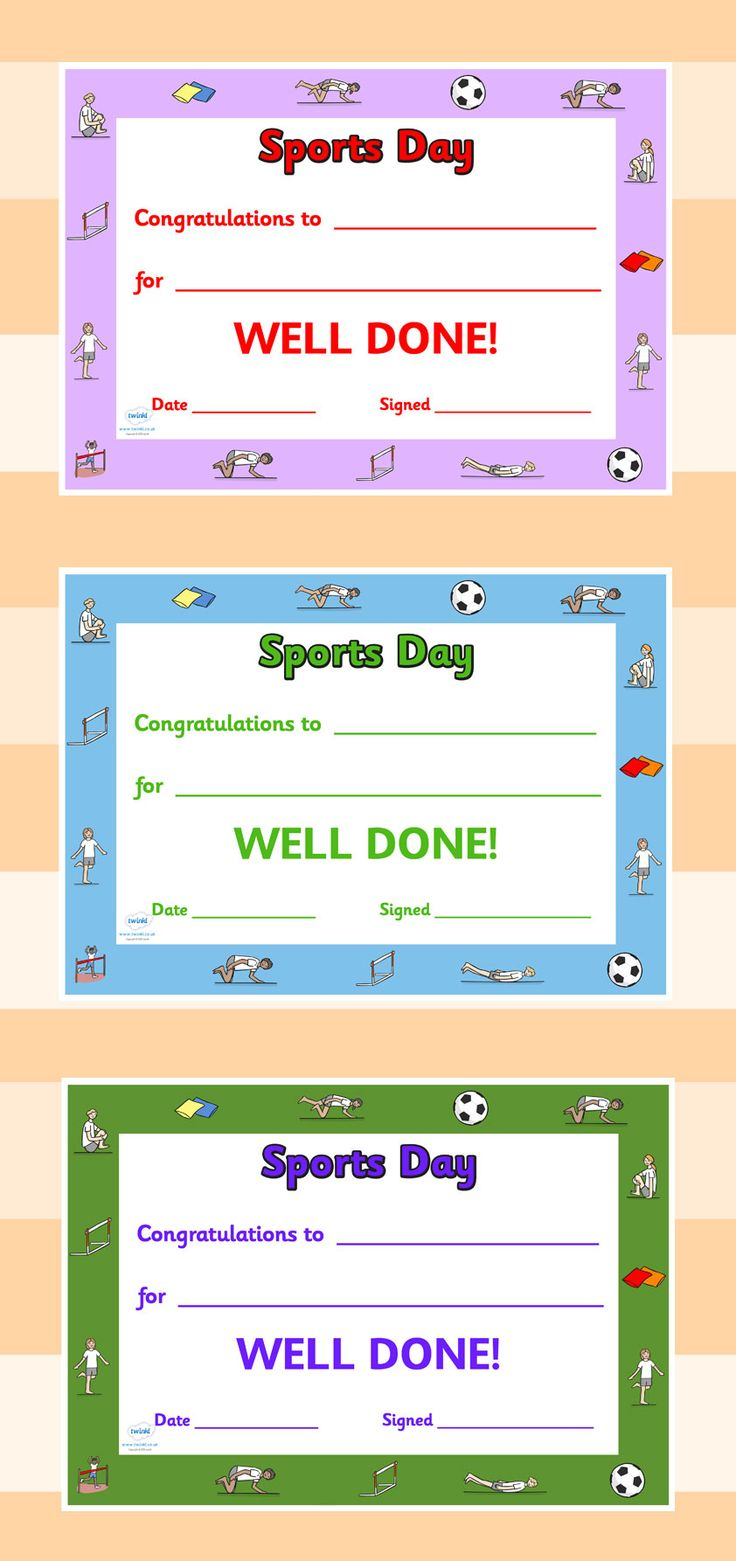 Twinkl Resources >> Editable Sports Day Award Certificates