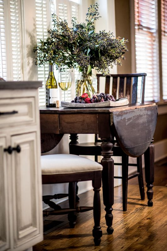 What a pretty drop leaf table Small eating area - Sean Anderson Design