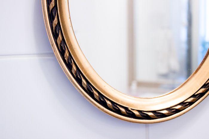 Golden antique mirror / Livin up a notch: home & decor