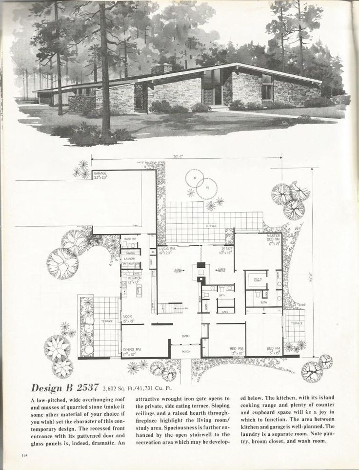 Vintage House Plans, Mid Century Homes, 1960s Homes in ...